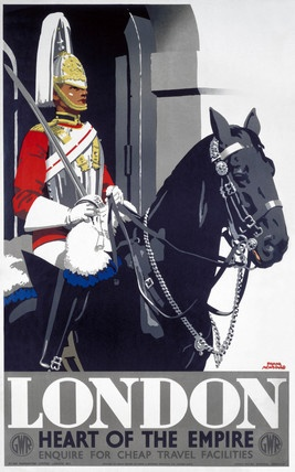 'London - Heart of the Empire', GWR poster, 1939. Great Western Railway poster, 1939. Artwork by Frank Newbould.