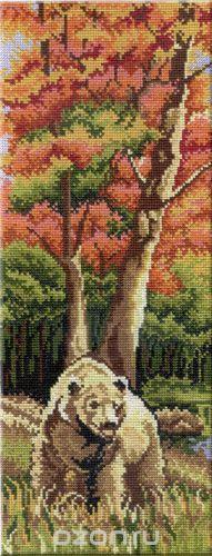 Набор для вышивания крестом Осенний пейзаж. Часть 1, 38 см х 15 см