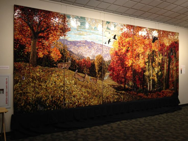 17 best images about mosaic scenes on pinterest mosaic for Autumn forest mural