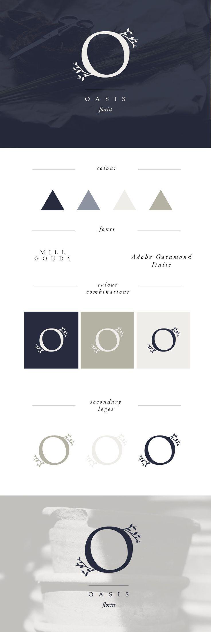 minimal design   minimal logo   logo trends 2017   florist branding   florist logo   modern logo   O logos