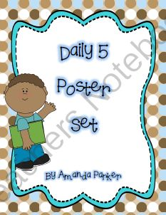 FREE Printable Daily Five Posters from Premium Primary on TeachersNotebook.com (11 pages)