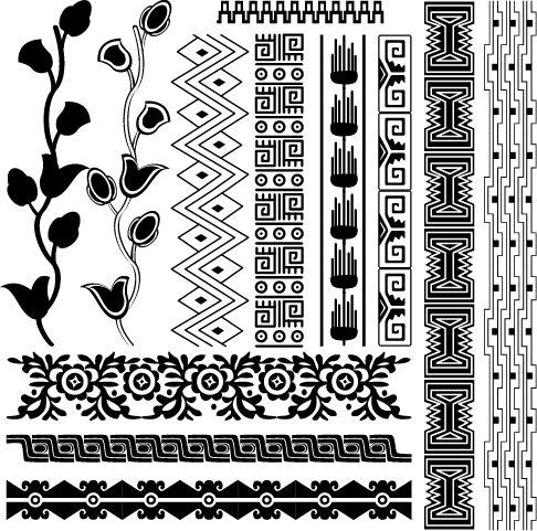 Ornamentos Mayas - clipart