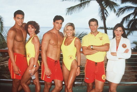 Baywatch Hawaii ~ TV series (1999-2001) starring David Hasselhoff, Brooke Burns, Jason Momoa, and Stacy Kamano.