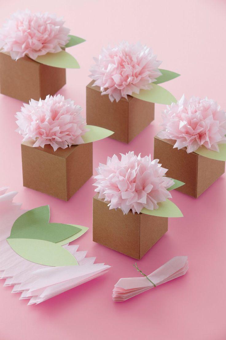 Amazon.com: Martha Stewart Crafts Pom-Pom Flower Treat Boxes: Arts, Crafts & Sewing