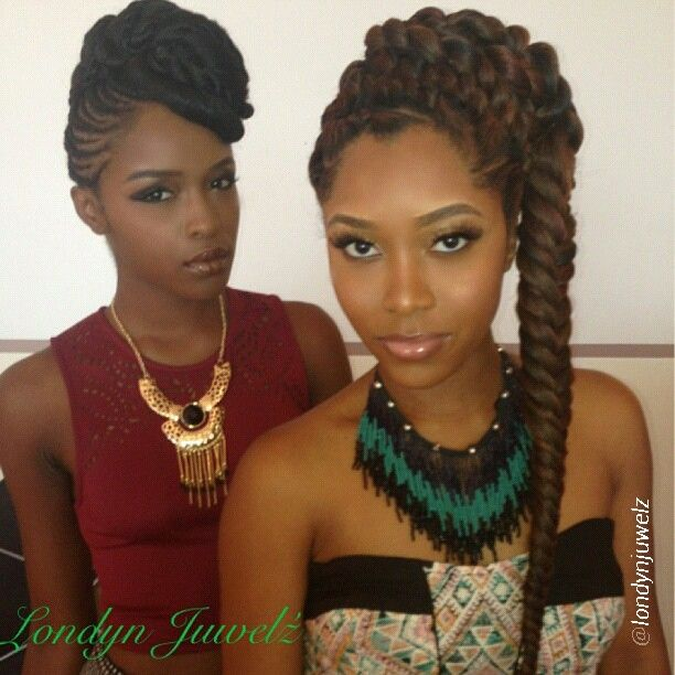 Astonishing 1000 Images About Braids Twists Amp That Updo On Pinterest Hairstyles For Women Draintrainus