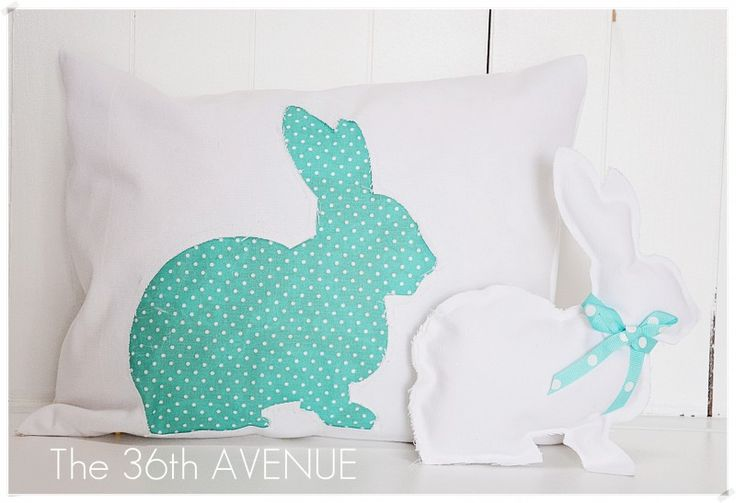 Cute! Though I need a sewing machine for this.    http://www.the36thavenue.com/2012/04/easter-pillow-and-bunny-tutorial.html