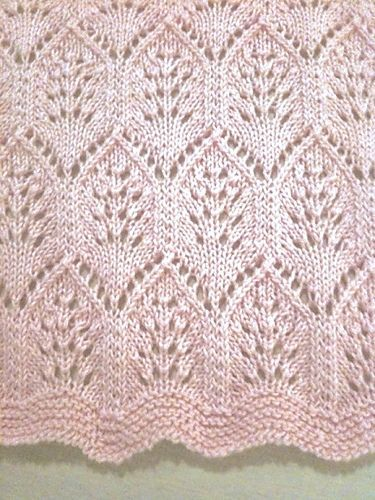 Lace plumes--I own this pattern (can download from Fiber Trends). Made for Molly.