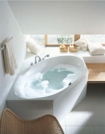 Arrdo bagno Duravit - Serie per il bagno: 2x3 - Vasca da bagno idromassaggio esagonali - #arredobagno