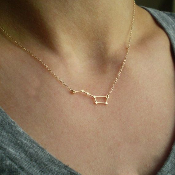 Big Dipper Constellation Necklace Delicate 14k by BeauAndStella