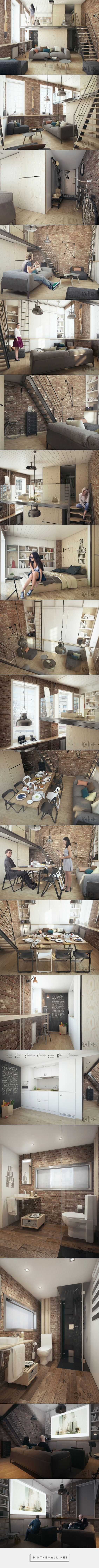 One bedroom apartment for a young couple - created via http://pinthemall.net: