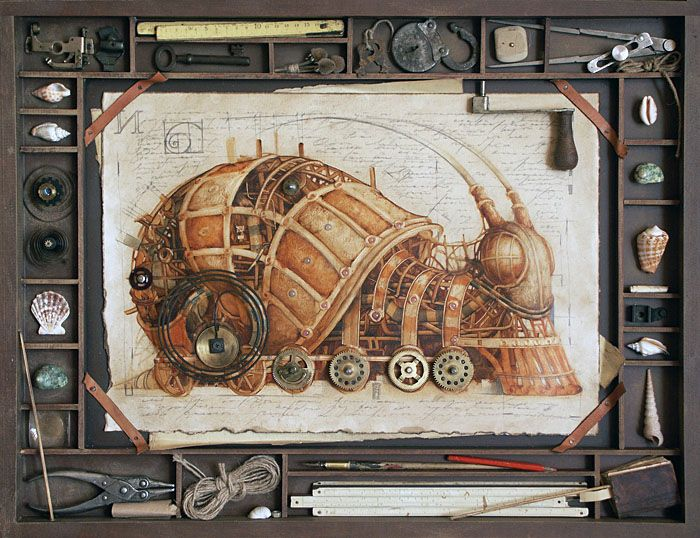 Wanted: Poster :: (well, print:) Have you seen these FOR SALE?? http://gvozdariki.ru Even on his site Russian artist Vladimir Gvozdev, also known as Gvozdariki does not list any prints for sale http://gvozdariki.ru/gvzd/mechanics/mex01/015-ulit.jpg