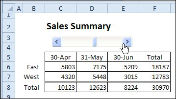 how to fix excel scroll bar