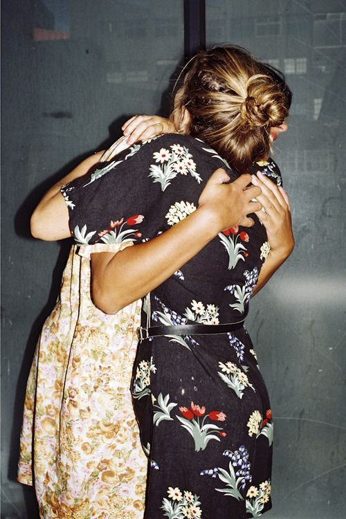 Give someone a hug (preferably while wearing a pretty dress)