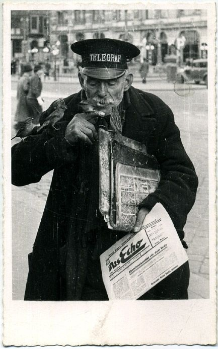 "A Vienna street ""old boy.""    In a vintage c. 1920s gelatin silver print reminiscent of the native type studies by EMIL MAYER."