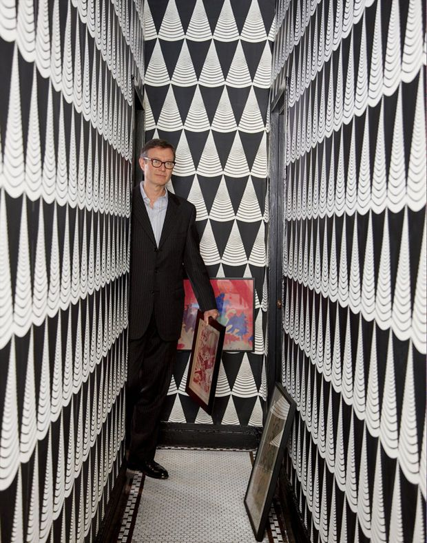 temo callahan: inspired irreverence wallpaper entry hallway foyer