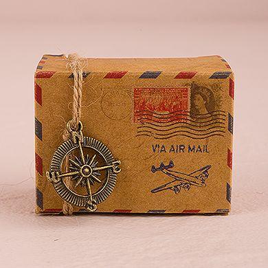 Vintage Inspired Airmail Favor Box Kit