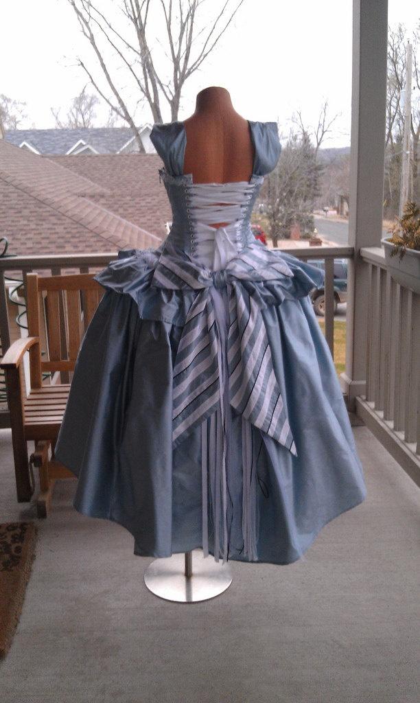 Alice and Wonderland Wedding Gown Corset Fairytale Dress-Custom to Order. $825.00, via Etsy.