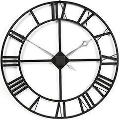 Howard Miller Gallery Oversized 32'' Lacy Quartz Wall Clock, Silver