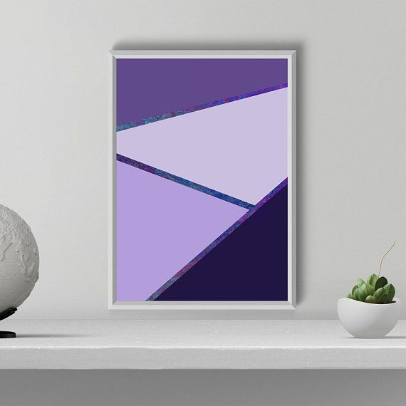 Ultraviolet Abstract Print, Ultraviolet Wall Art, Purple Wall Decor, Geometrical Poster, Wall Art Printable, Minimalist Art, Bedroom Decor
