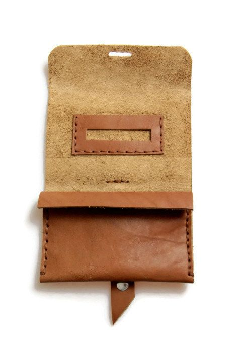 Handmade tobacco pouch / Leather tobacco pouch by toxleather