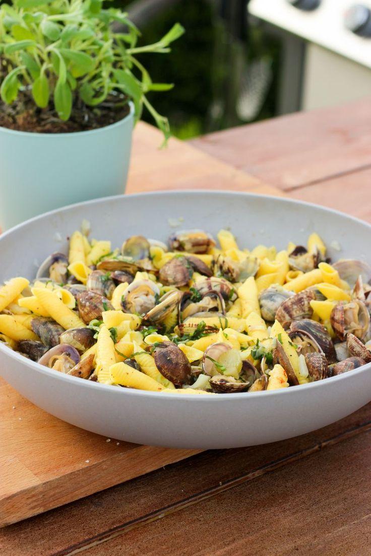 """Het lekkerste recept voor """"Pastasalade met vongole en venkel"""" vind je bij njam! Ontdek nu meer dan duizenden smakelijke njam!-recepten voor alledaags kookplezier!"""