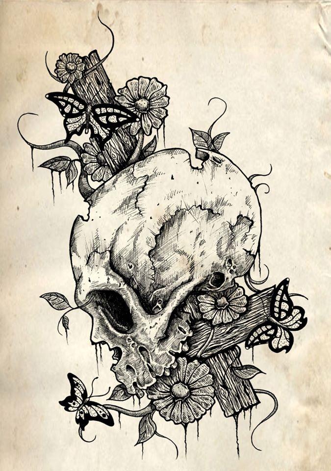 Gnash Design Picture tattoos, Sugar skull tattoos, Skull art