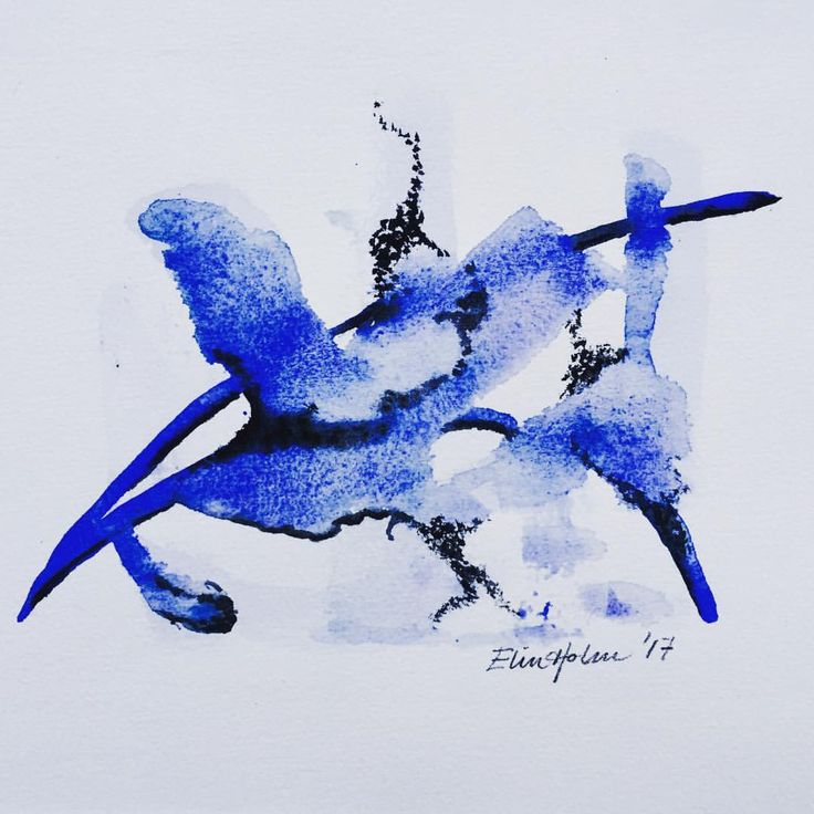 """1 likerklikk, 1 kommentarer – Elin Holm (@elinartholm) på Instagram: """"Nameless blue (ElinArt - July 2017) #watercolors art #artwork #akvarell #nonfigurative…"""""""