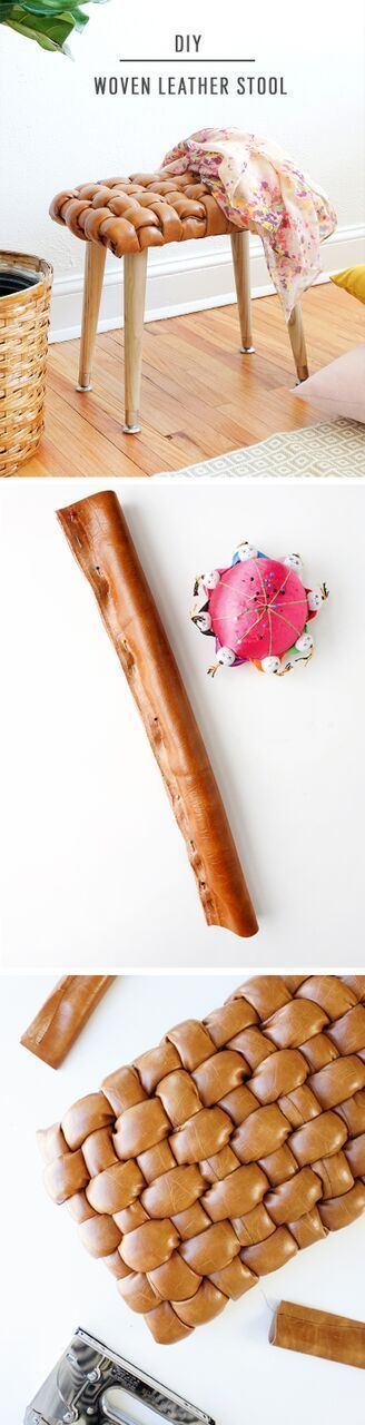 We're teaching you how to make this awesome DIY woven leather stool that you...