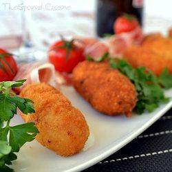 Serrano ham croquettes recipe! Get this yummy Spanish Tapas Recipe with bchamel sauce and Serrano ham!