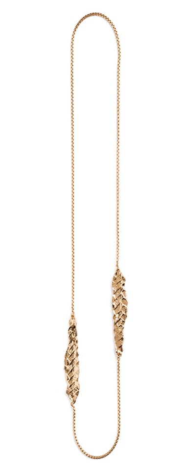 Orly Genger by Jaclyn Mayer long gold necklace