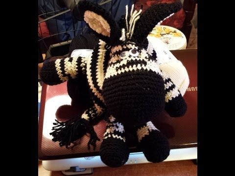 Zebra all'uncinetto   amigurumi  tutorial crochet