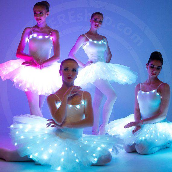 LED light up rainbow ballet tutu dress costume / Professional   Etsy   Tutu  dress costumes, Light up dresses, Dance outfits