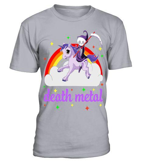 # Death Metal Rocker Unicorn T Shirt .  Death Metal Rocker Unicorn T Shirt