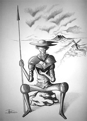 Don Quijote I Painting