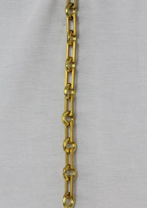 CH-11 Solid Brass Handmade Chain in Acid Dip