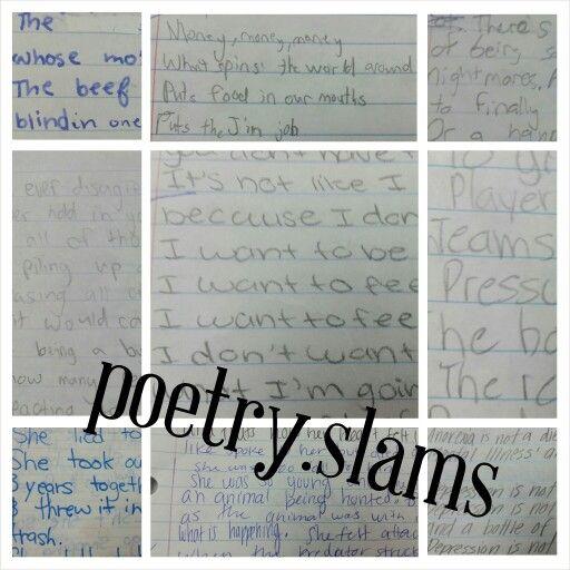 Help writing slam poetry