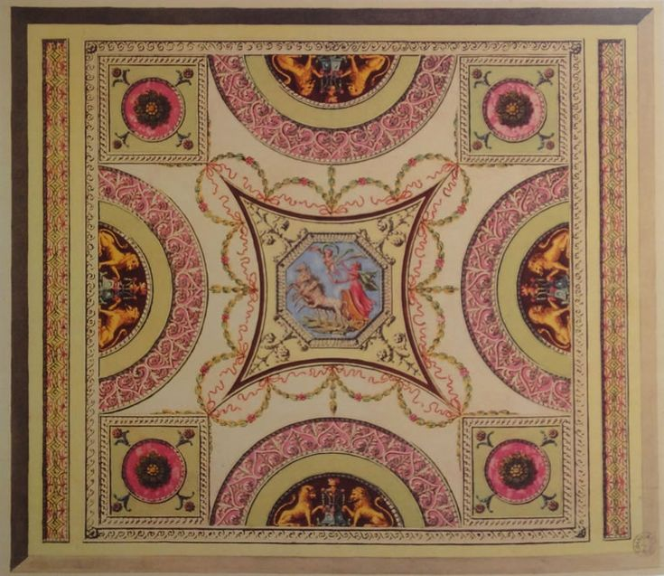 Ceiling Design for a House in Adelphi Adam Vol. 13/7