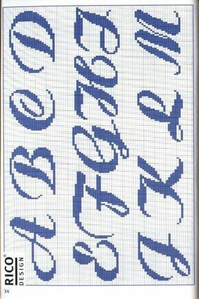 Knitting Cursive Letters : Best images about alfabeto punto croce on pinterest