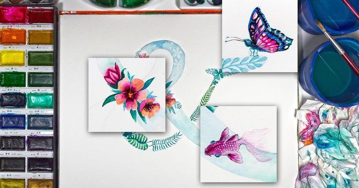 20+ Contoh Lukisan Pemandangan Yang Mudah Dibuat Dan Bagus ...