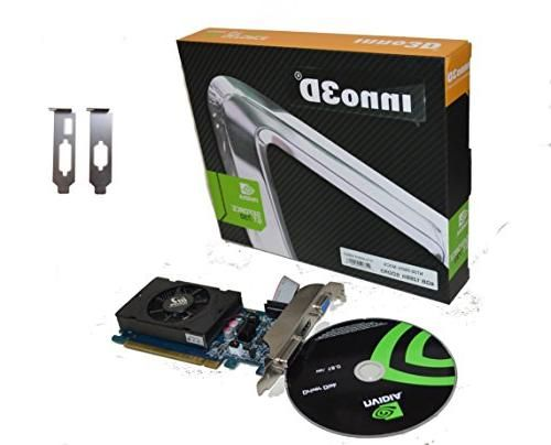 Inno3D Nvidia Geforce GT 730 LP 4GB DDR3 HDMI DVI VGA 128 Bit Video Graphics Card, PCI Express x16 HD 1080P Low Profile