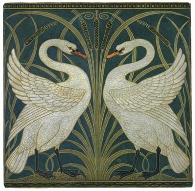 Swan Wallpaper, by Walter Crane