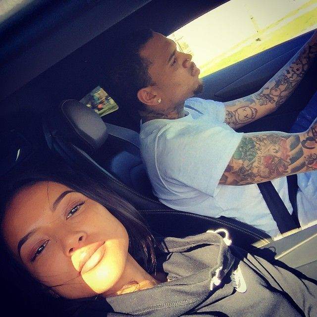 """chrisbrown-pictures: """"Chris Brown and Karrueche today in L.A. """""""