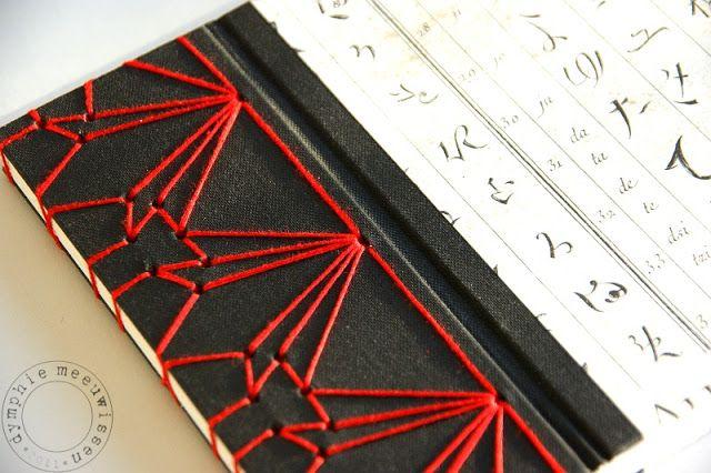 complex Japanese stab binding by Papieren Avonturen: - a book a month