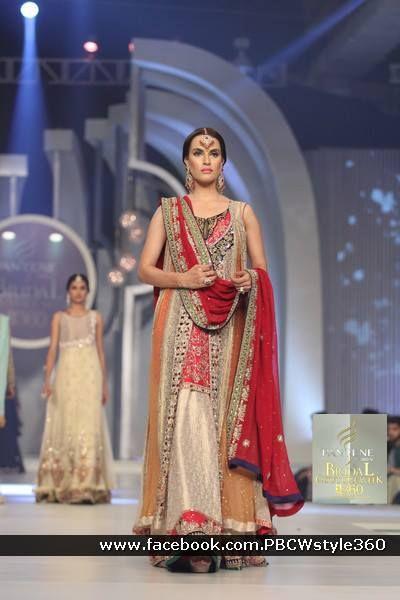 Pakistan Pantene Bridal Couture week 2013 | [source: PINKVILLA]     #desiwedding #desibride