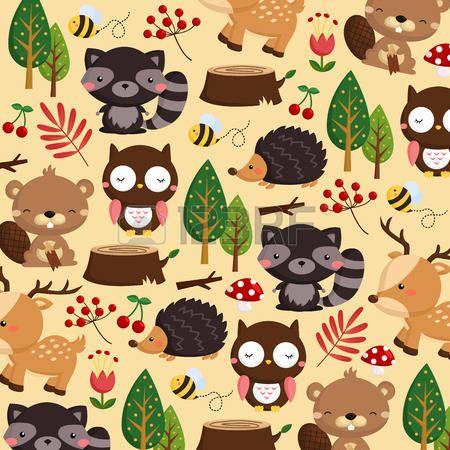 hedgehog cartoon: Woodland Light Background