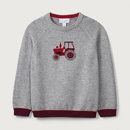 Buy Farmyard Tractor Knitted Jumper (1-6yrs) - from The White Company
