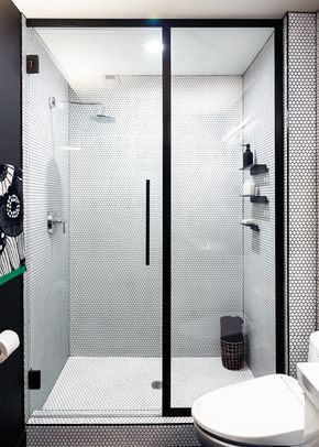 Design Milk's Managing Editor, Caroline Williamson, undergoes a bathroom renovation that goes from basic to graphic and modern.