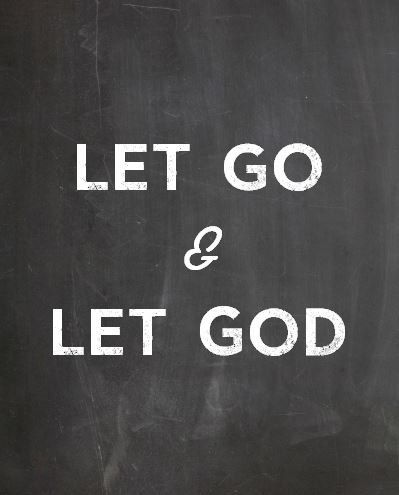 Let Go and Let God Printable 8x10 christian by atasteofeverything, $4.80