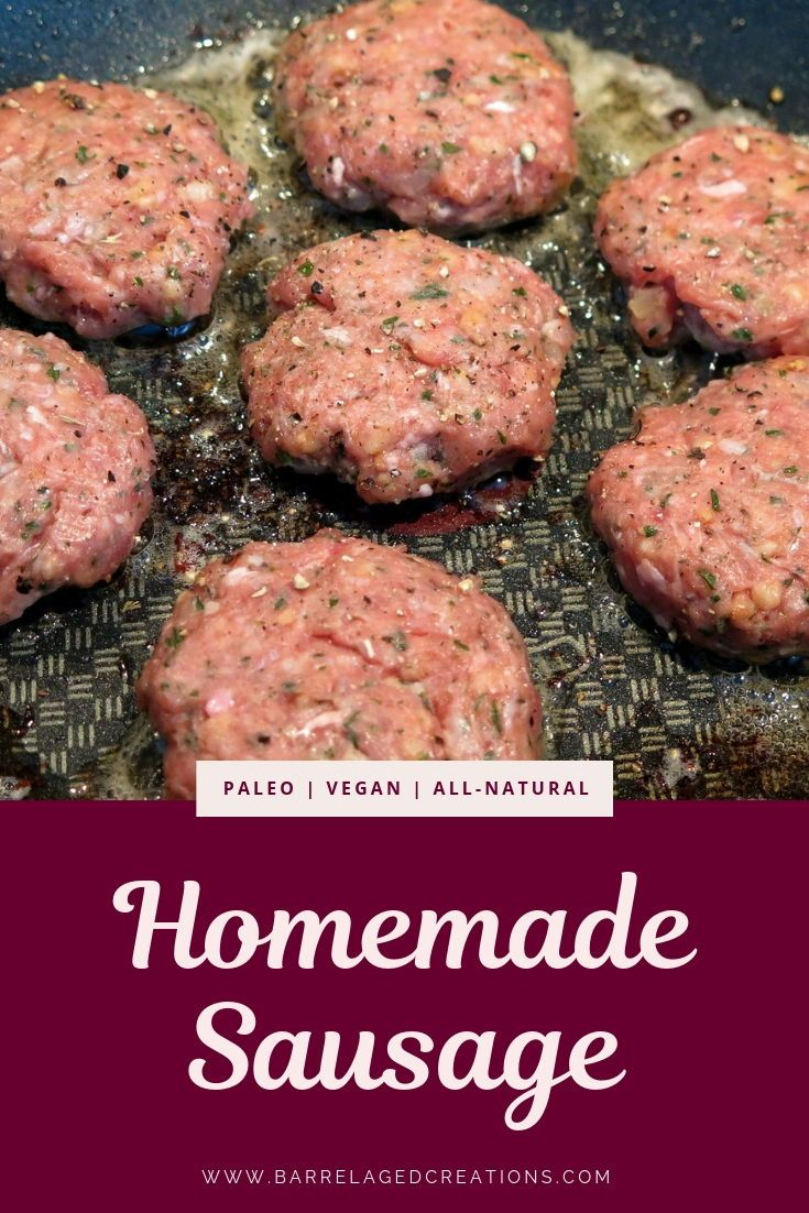 Homemade Whiskey Maple Sausage Barrel Aged Creations Sausage Breakfast Breakfast Sausage Seasoning Maple Recipes