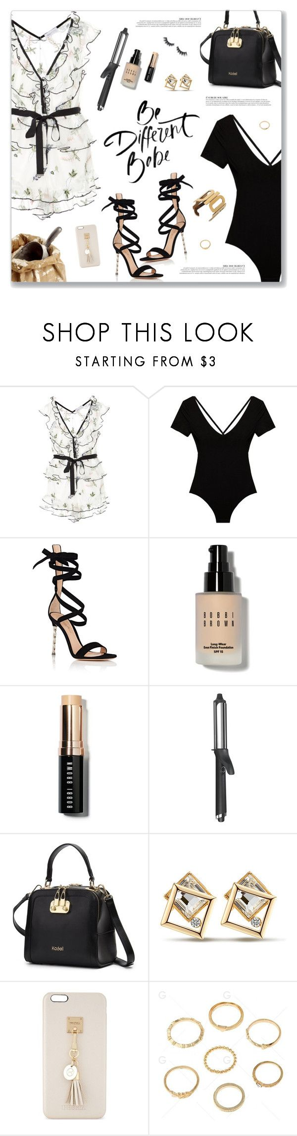 """""""Bad Girl, Usher"""" by blendasantos ❤ liked on Polyvore featuring Alice McCall, Cosabella, Gianvito Rossi, Bobbi Brown Cosmetics, GHD, Anja, Iphoria and Violet Voss"""